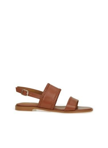 George Hogg 7005305 Bantlı Kadın Deri Sandalet Taba